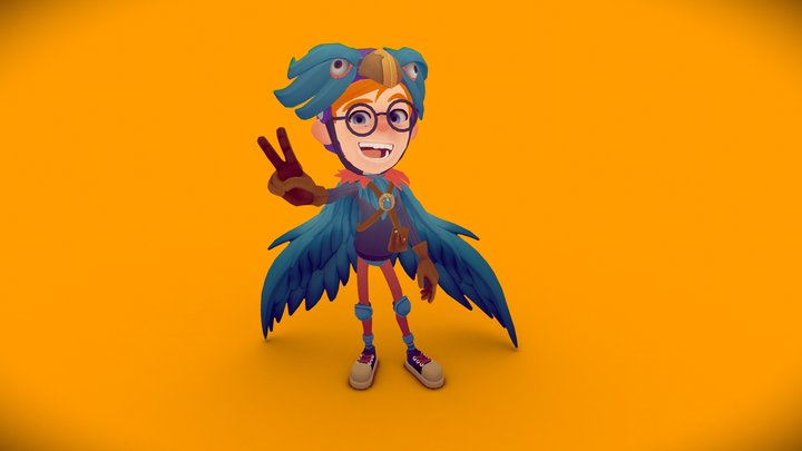 Wannabe Superhero - Eagleboy 3D Model