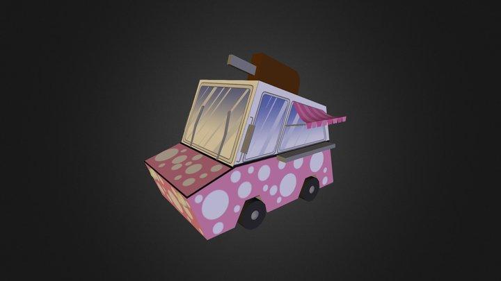 Cartoon Ice Cream Truck  3D Model