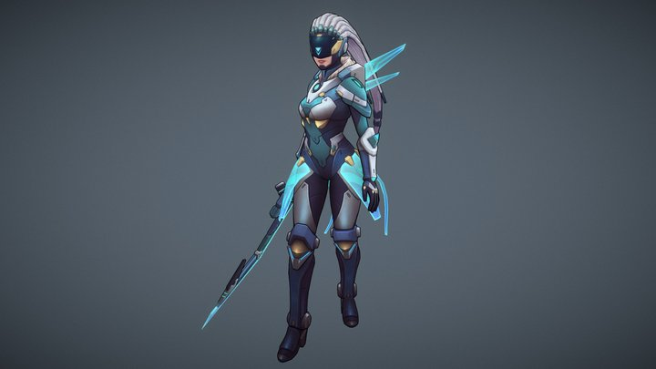 Riot creative contest 2017 Project_Diana 3D Model