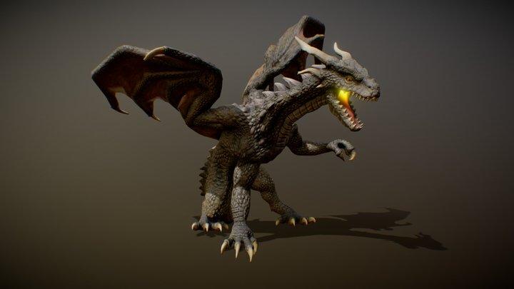 MOUNTAIN DRAGON ANIMATIONS 3D Model