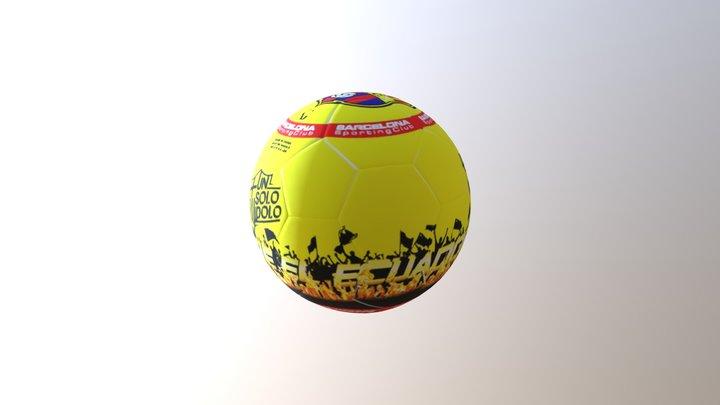 BALON BARCELONA AMARILLO 3D Model