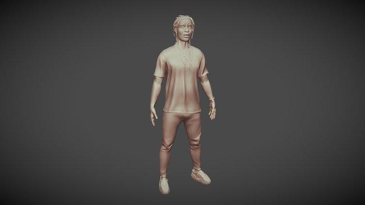 ASAP Rocky Miniature Model 3D Model