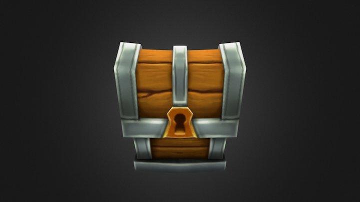 Low Poly Treasure Box 3D Model