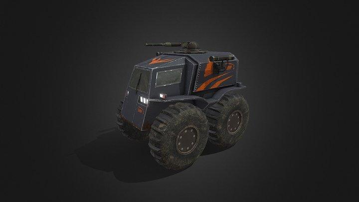 Military Vehicle Sharp 1 3D Model