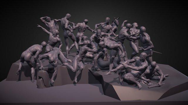 Battle of Cascina 3D Model