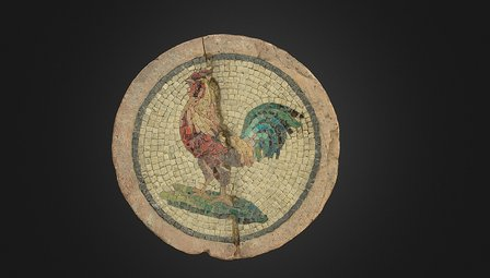 Rooster mosaic 3D Model