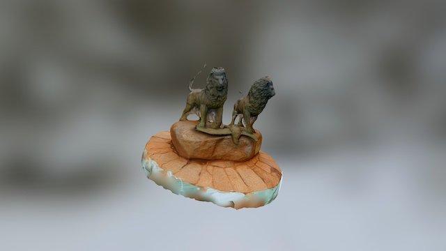 Fuente leones  de El Escorial 3D Model