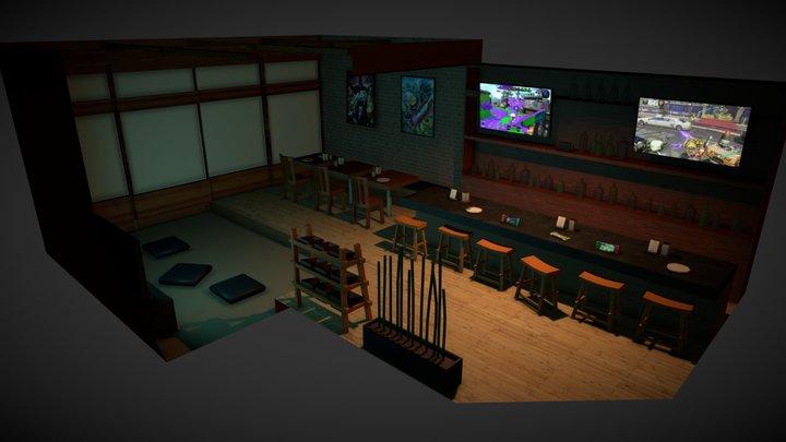 Game Bar Final 3D Model