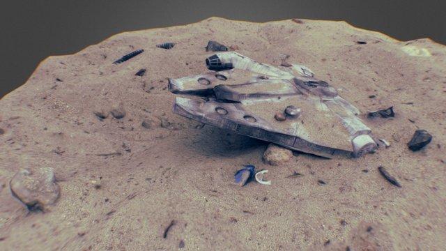 Millennium Falcon 3D Scan | A Paper Model 3D Model