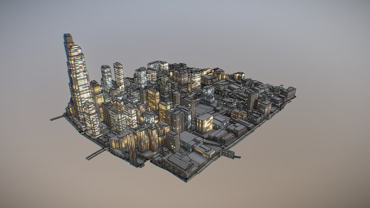 NIGHT CITY 3D Model