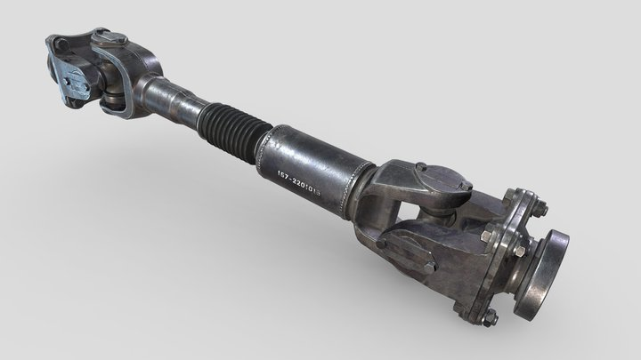 3D model ZIL-157_Rear Axle Driveshaft. 3D Model