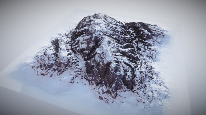 Brushify.io - Mountain 03 3D Model