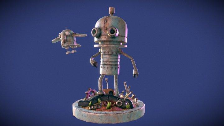 Machinarium Fan Art 3D Model