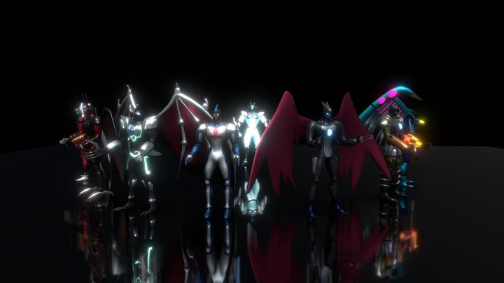 Elemental Hero Neos Pack (Yugioh) 3D Model