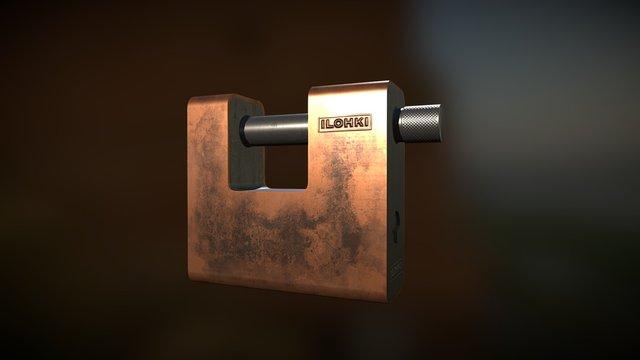 Square lock 3D Model