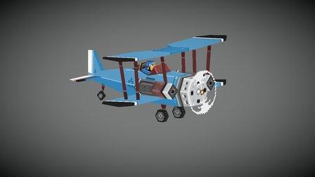 Attack Plane 3D Model