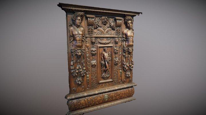Wood Relief 3D Model