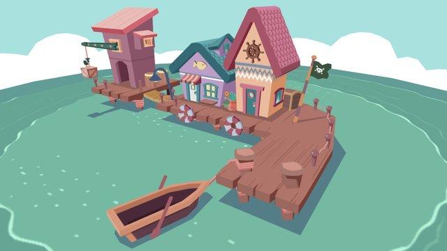 Pirate Wharf 3D Model