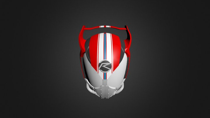 Drive type SPEED Helmet 3D Model