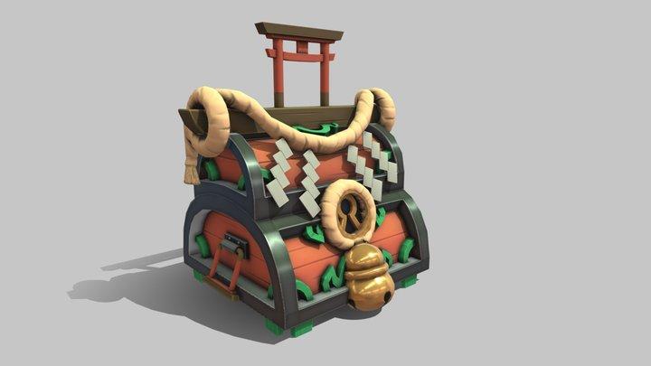 Asian Stylized Chest 3D Model