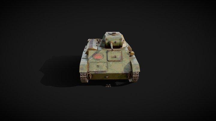 T-70 Tank 3D Model