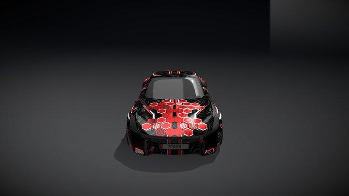 XTAON CAR ART CONTEST: HEXAGONAL STORM 3D Model
