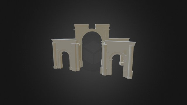 Triumphal Arch (No Colonnade) 3D Model