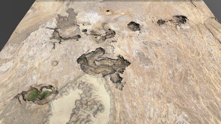 Dead Sea Sinkholes 3D Model