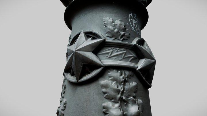 Berlin Unter den Linden Street Lamp Socket 3D Model