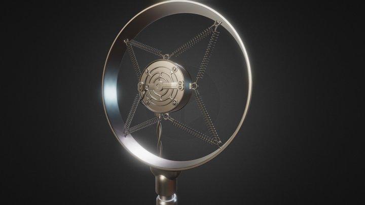 Electro-Voice Carbon Button Microphone 3D Model