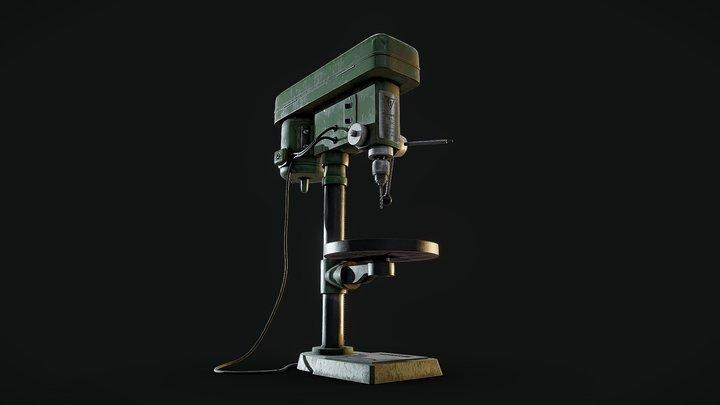 CHICAGO MACHINE TOOLS - Heavy duty drill press 3D Model