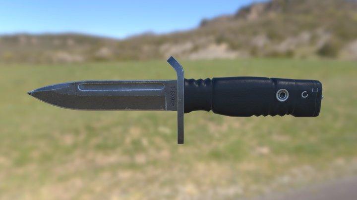Russian combat knife 6X9-1 3D Model