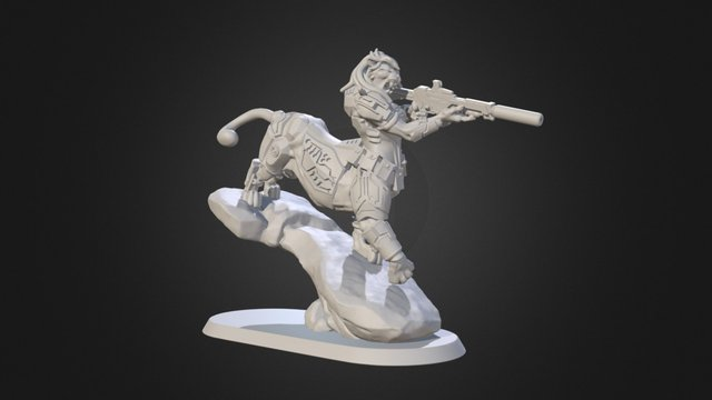 Feyrin, the pumataur miniature 3D Model