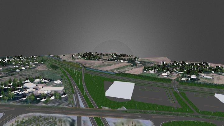 Road Design 3D Model
