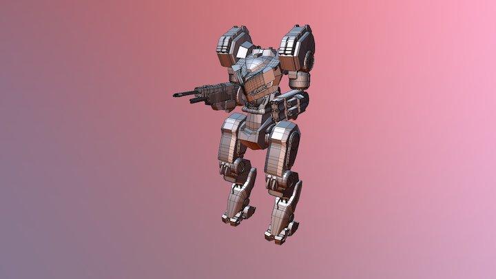 Mech Robot Body Practice 3D Model