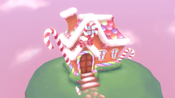 Candy Cottage 3D Model
