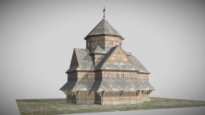 Ivana Khrestytelya Church in Galych 3D Model