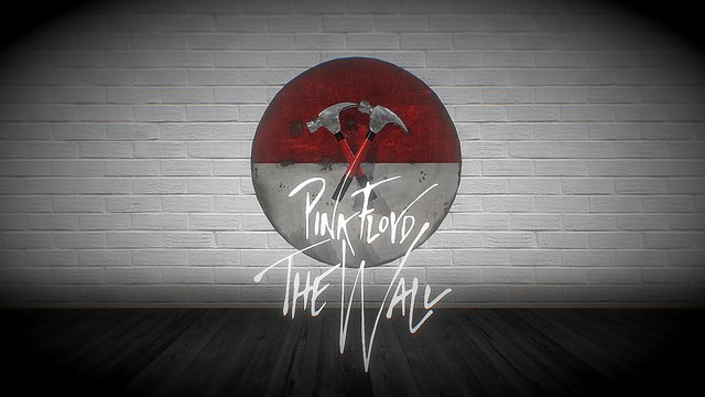 Animated Pink Floyd The Wall Hammer Scene 3D Model