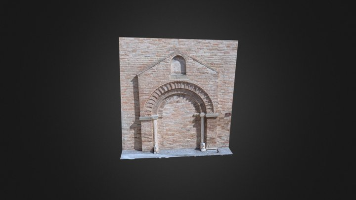 Portale Gotico (1368) - Montedinove 3D Model