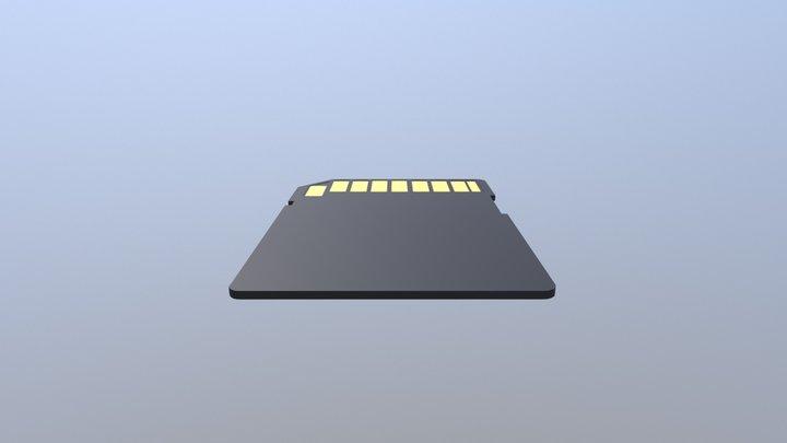 Simple SD Card 3D Model