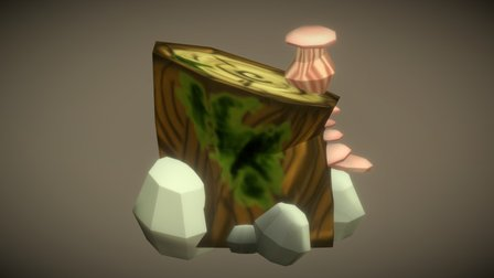 Log Block 3D Model