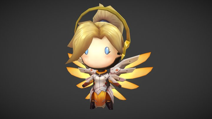 Chibi_Mercy 3D Model