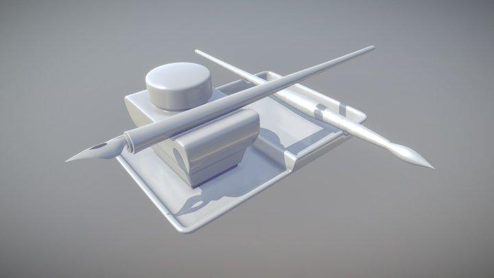 [WIP] Federhalter Tintenfass 3D Model
