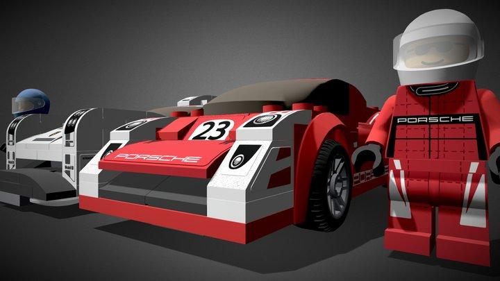 LEGO Porsche Cars - Speed Champions - 75876 3D Model