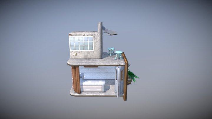 Hipster Reception 3D Model