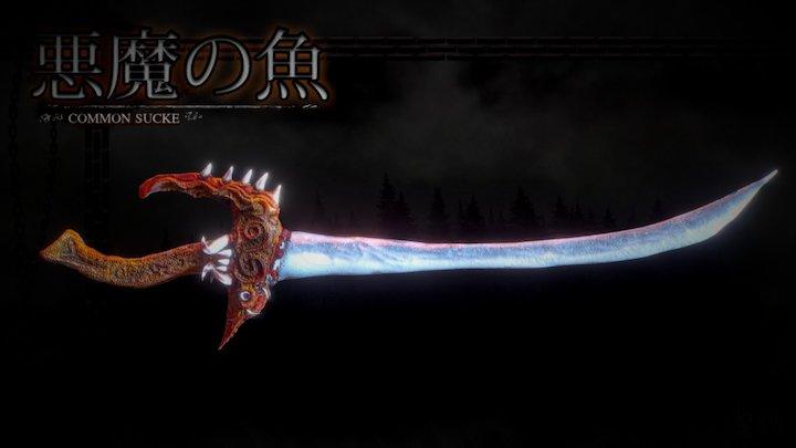 Cursed Sword 3D Model