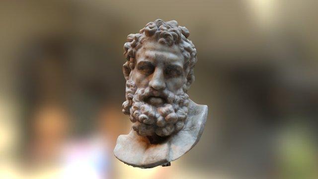 Roman Head of Herakles 3D Model