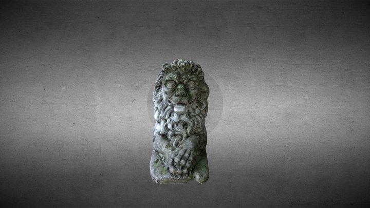 Scultura leonina Villa Graziella Govone 3D Model