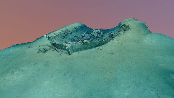 "19th-Century Shipwreck ""15377"" High Resolution 3D Model"