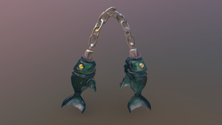 Fish Nunchucks 3D Model
